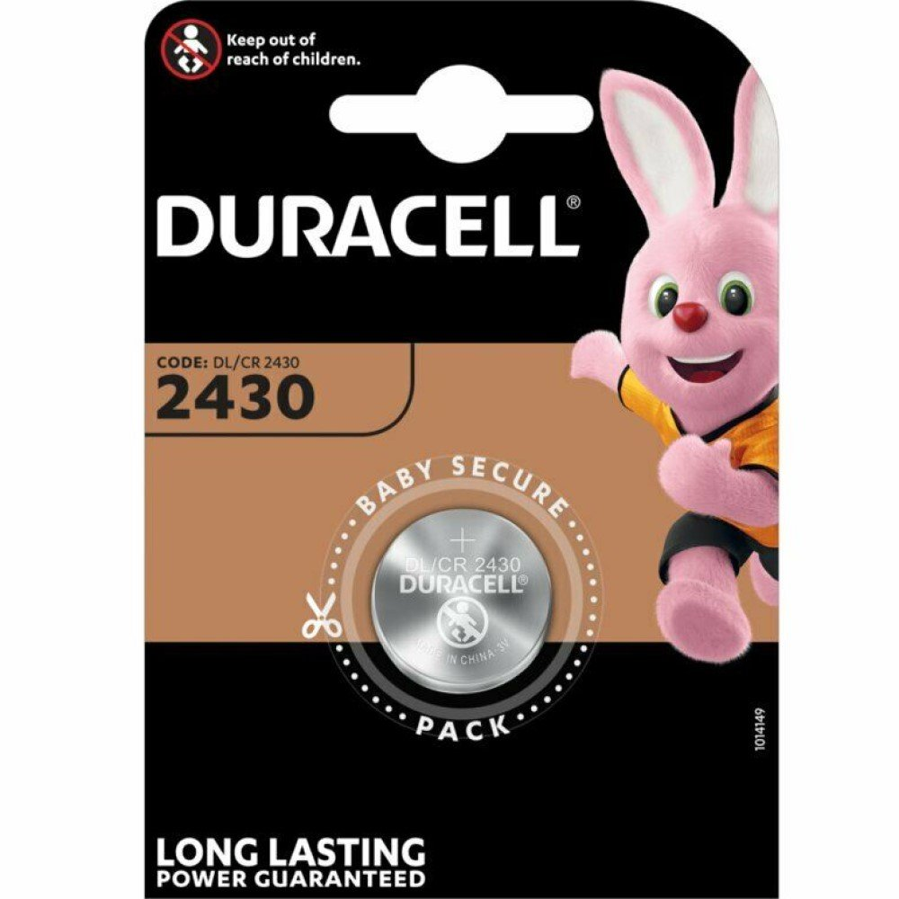 Duracell Knopfzelle Lithium 3,0 V DL 2430 B1