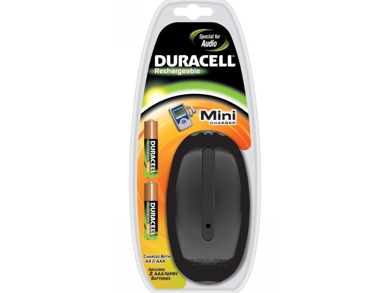 Dur. Mini Charger incl. 2 AAA 750 mAH. CEF 20