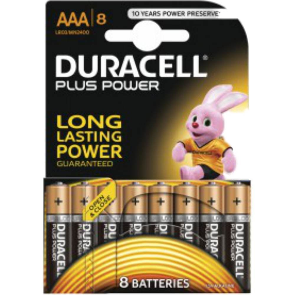 Duracell Micro AAA MN 2400 PLUS POWER B8