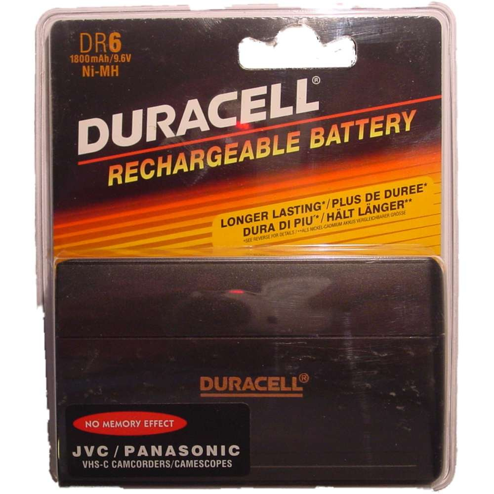 Duracell Camcorder-Accu 9,6 V 1800 mAh.DR 6