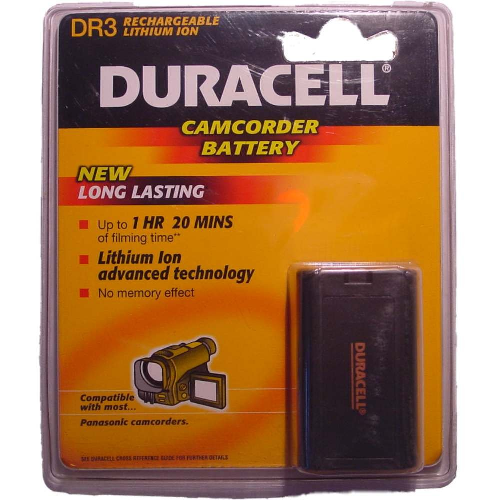 Duracell Camcorder-Accu 7,2 V 850 mAh. DR 3