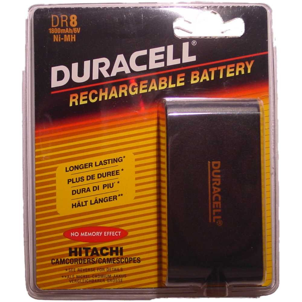Duracell Camcorder-Accu 6 V 1800 mAh. DR 8