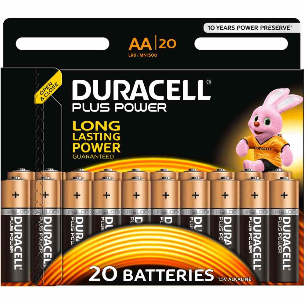 Duracell Mignon AA MN 1500 PLUS POWER B20