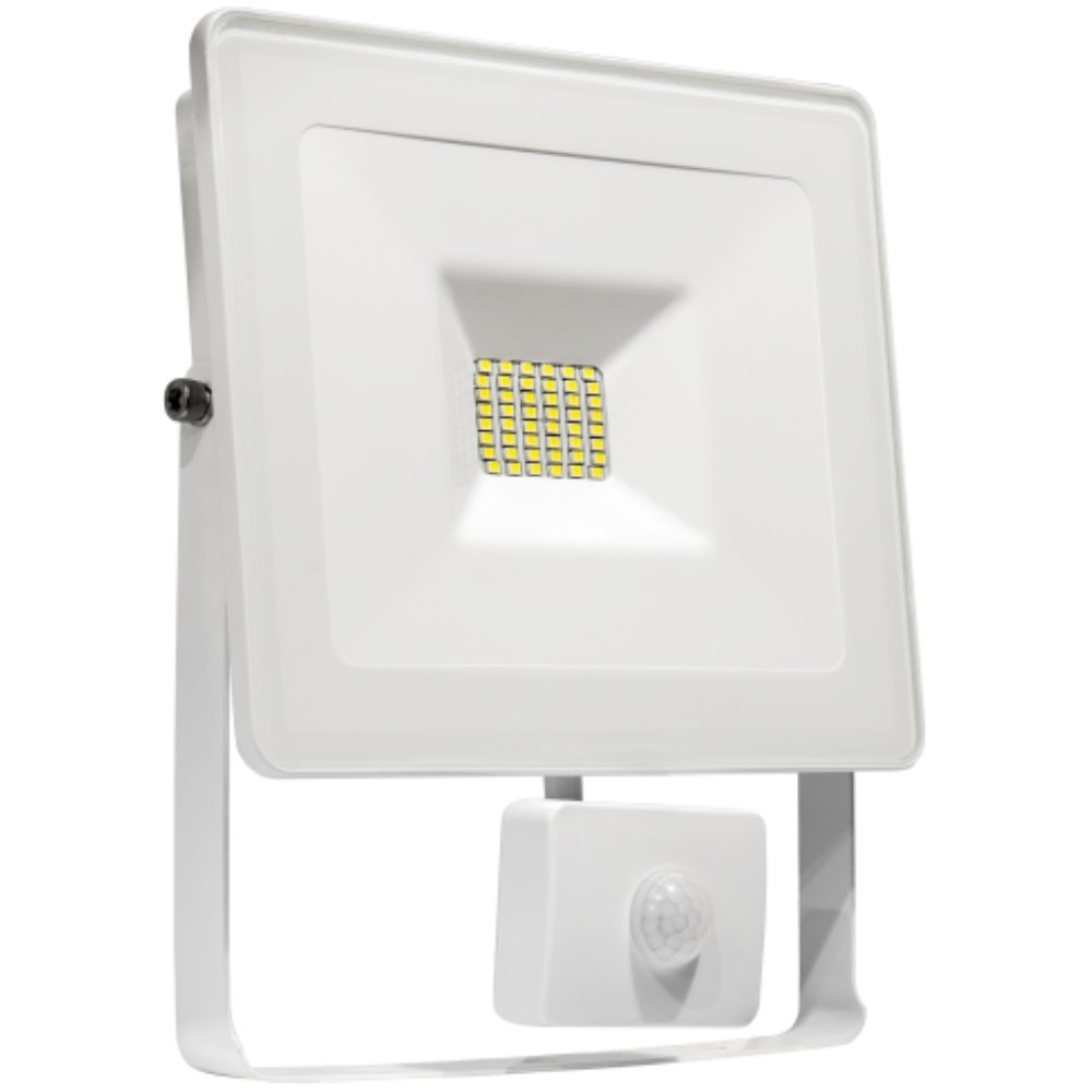 LED Fluter m. BM 10 W 880 lm 4000 K IP65  weiss Spectrum 29041 NW